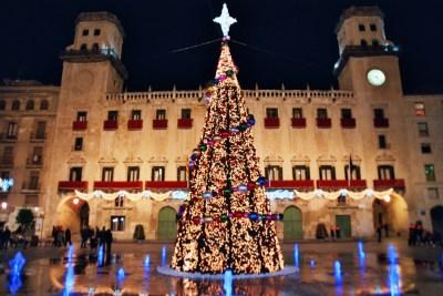 Navidades. Plaza del Ayuntamiento. Noche