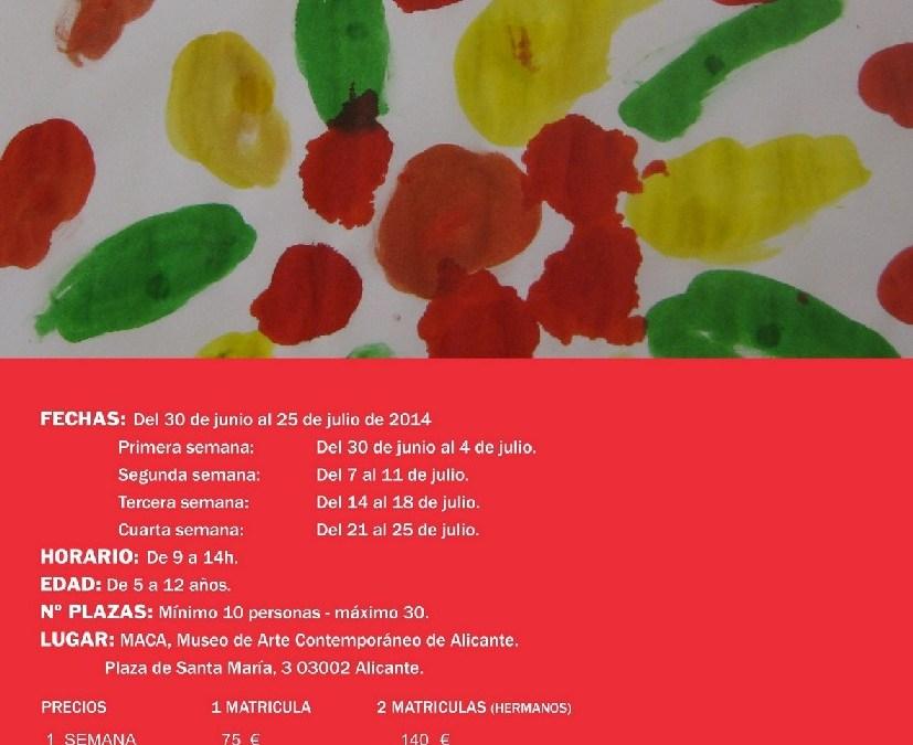 Talleres artísticos para niños en el MACA