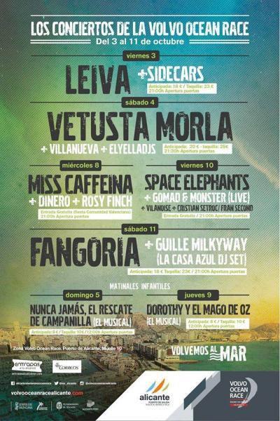 Los conciertos de la Volvo Ocean Race