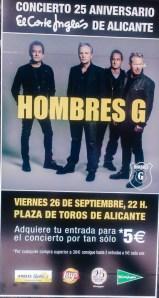 Hombres G en concierto. Plaza de Toros de Alicante @ Plaza de Toros de Alicante