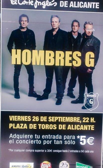 Hombres G en concierto. Plaza de Toros de Alicante