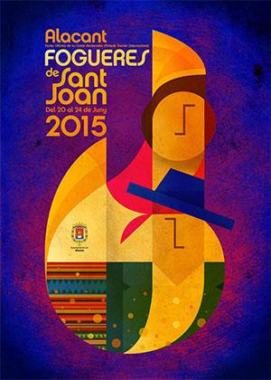 Cartel Hogueras 2015 Alicante
