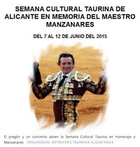 Pregón de la Feria Taurina en Las Cigarreras. SEMANA CULTURAL TAURINA @ LAS CIGARRERAS | Alicante | Comunidad Valenciana | España