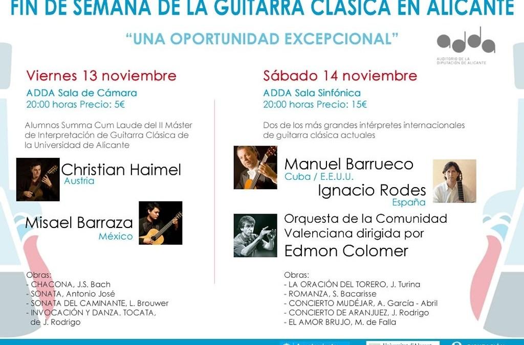 Alicante celebra el Fin de Semana de la Guitarra Española en el ADDA