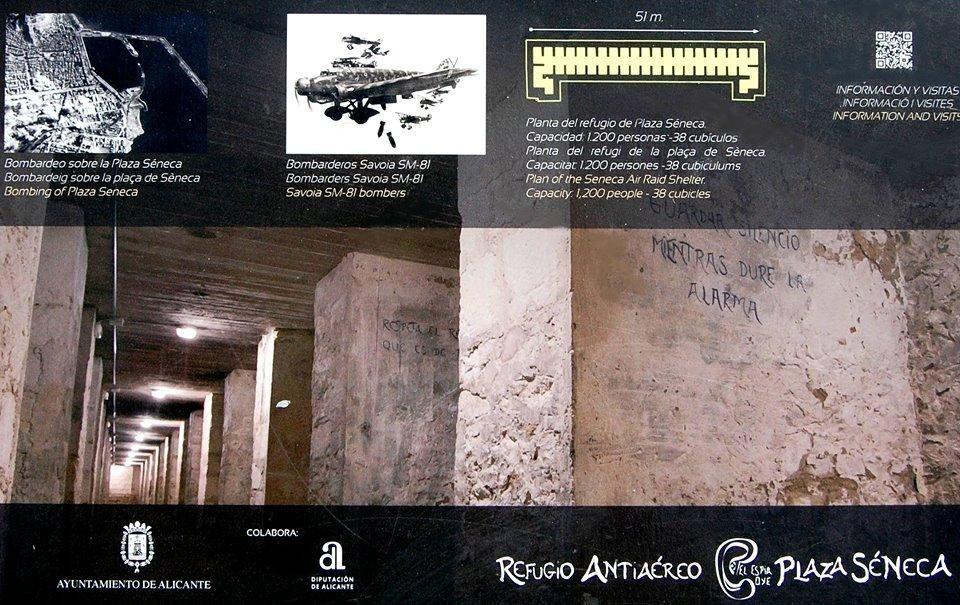 Visita el Refugio Antiaéreo en Plaza Séneca (antigua Estación de Autobuses). Consulta los horarios