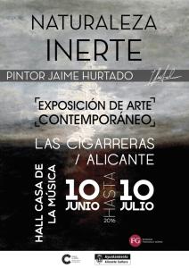 EXPOSICIÓN NATURALEZA INERTE DE JAIME HURTADO EN EL HALL DE LA CASA DE LA MÚSICA. @ Las Cigarreras | Alicante | Comunidad Valenciana | España