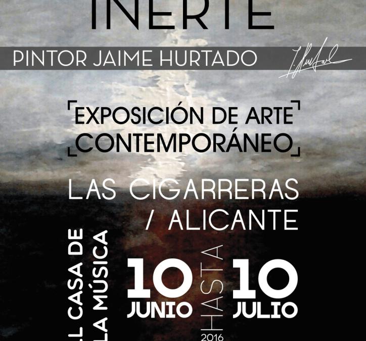 EXPOSICIÓN NATURALEZA INERTE DE JAIME HURTADO EN EL HALL DE LA CASA DE LA MÚSICA.