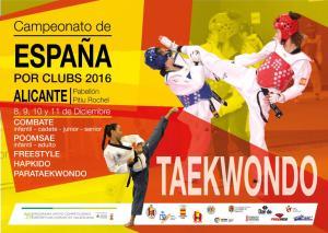 Campeonato del España de Taekwondo por clubes 2016 @ Pabellón Municipal Pitiu Rochell | Alicante | Comunidad Valenciana | España