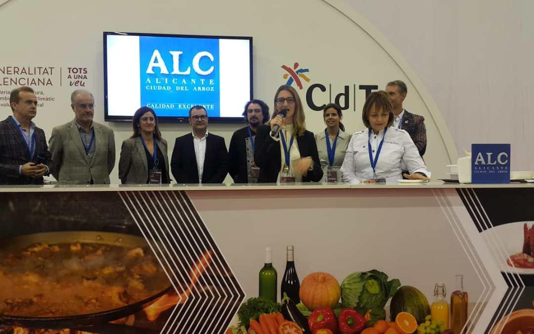"""De España presenta el certificado de calidad de la marca """"Alicante, Ciudad del Arroz"""" en la feria Gastronoma de Valencia"""