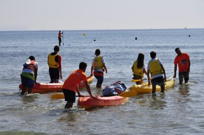 Playa San Juan nautica niños Alicante 2