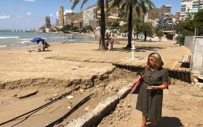 Información de interés sobre las playas del municipio de Alicante, con motivo del temporal del pasado 21 de agosto.
