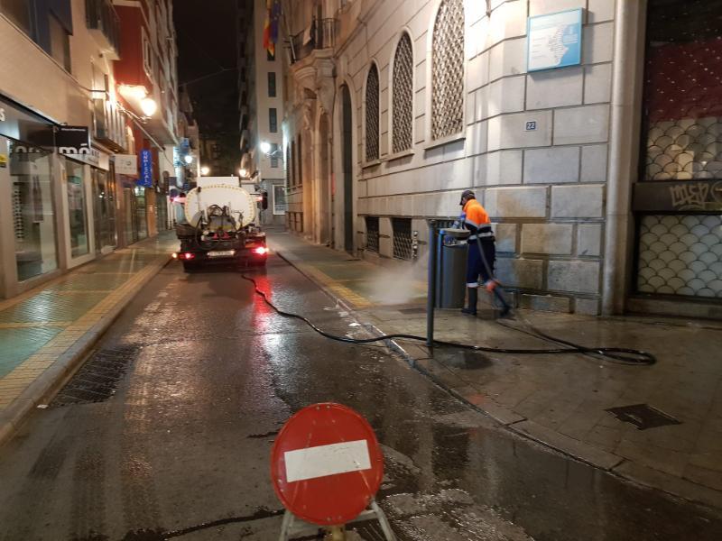Puesta en marcha de un Plan Especial de Desinfección en las calles de Alicante mientras dure la alerta sanitaria del 'coronavirus'