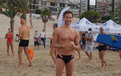 """David Meca estrena el canal de nado permanente más largo de España """"Serra Grossa"""" en una travesía organizada por la concejalía de Deportes"""