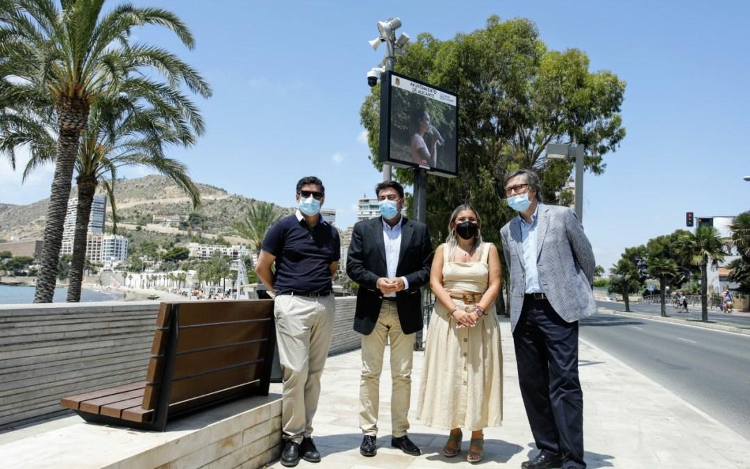 """La playa de La Albufereta incorpora el innovador sistema """"Ion Beach"""" para el control de aforo mediante cámaras de visión artificial"""
