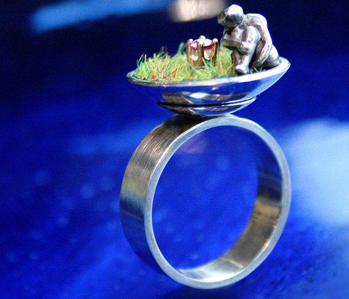 """Ring """"Einsame Blume"""""""