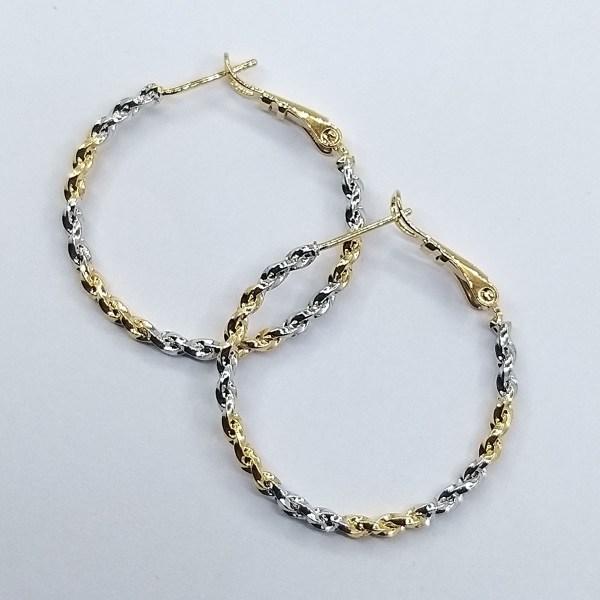 Серьги - кольца Xuping покрытые 18К золотом и родием