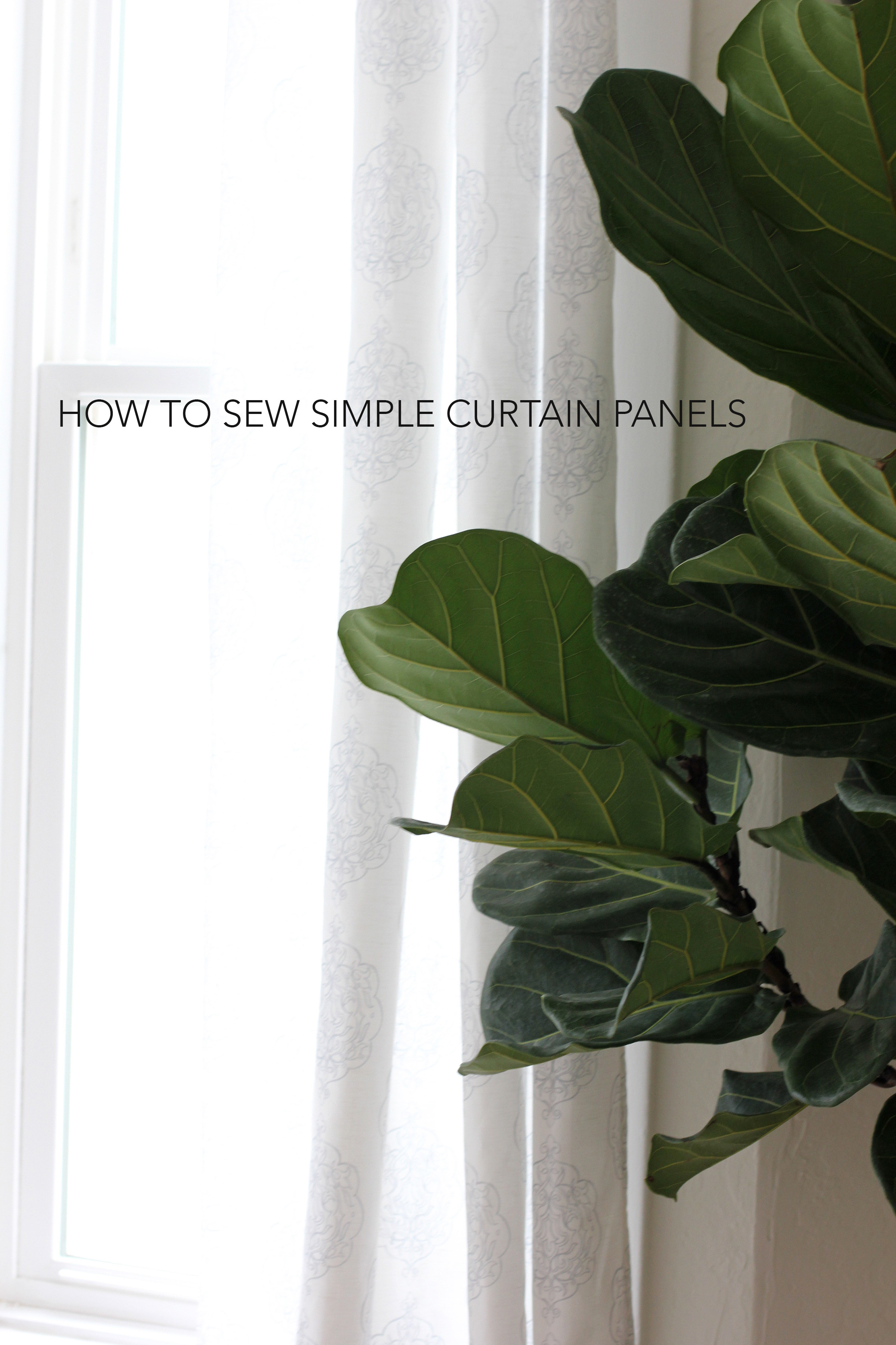Learn how to make simple curtain panels . This is a great beginner sewing project!