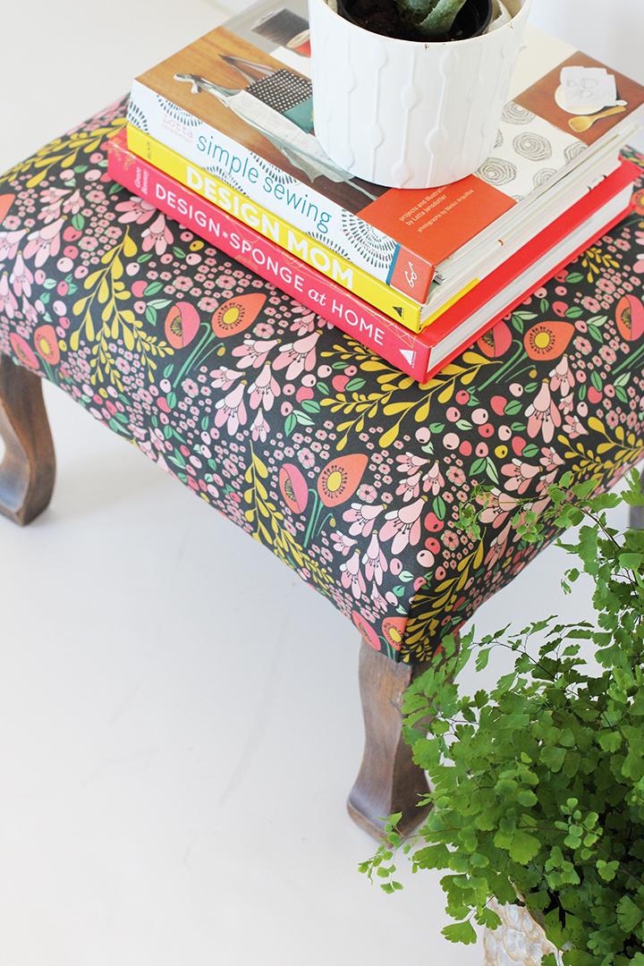 DIY Upholstered Stool | alice & lois