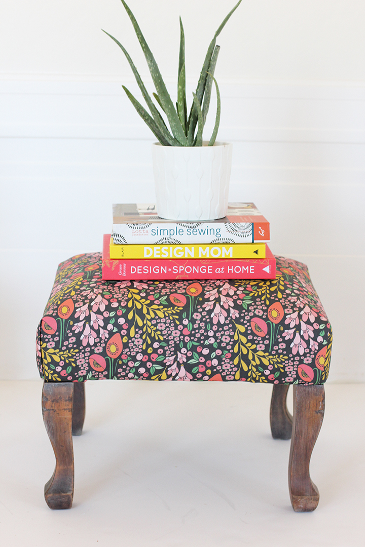 DIY Upholstered Stool | alice & lois