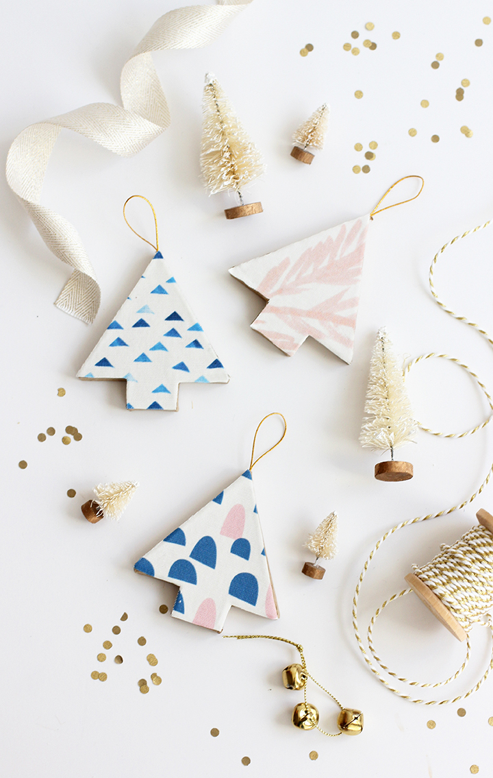 DIY Fabric Covered Tree Ornaments
