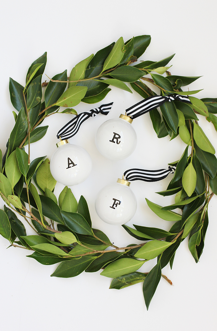 DIY initial ornament you can make in minutes.