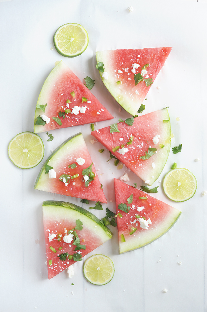 Love this Jalapeño Lime Watermelon Wedge Salad Recipe for a summer barbecue.