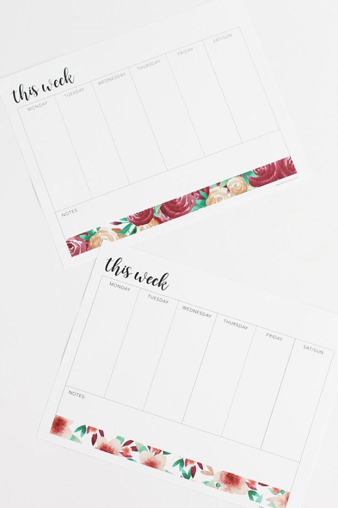 weekly planner semanal