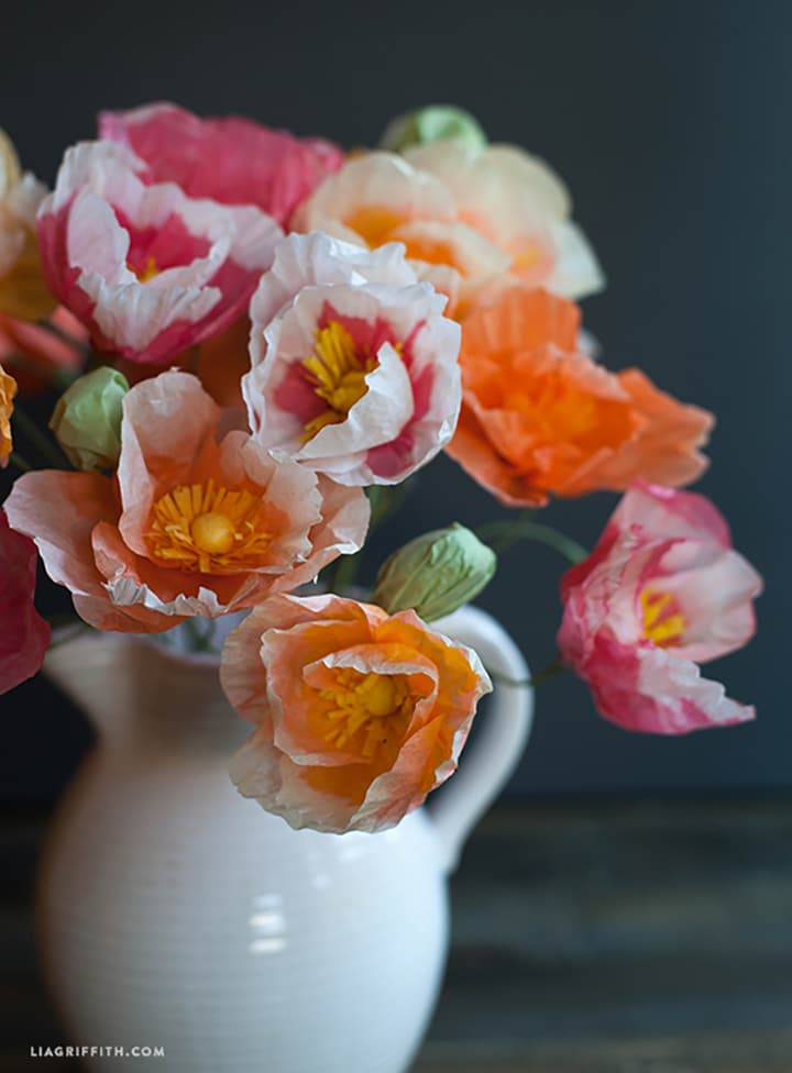 DIY Tissue Paper Poppies by Lia Griffiths