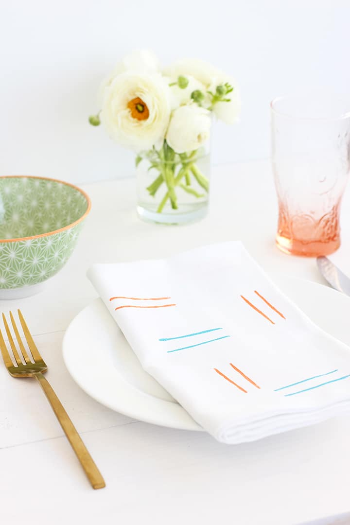 DIY Hand-stamped cloth napkins | alice & lois