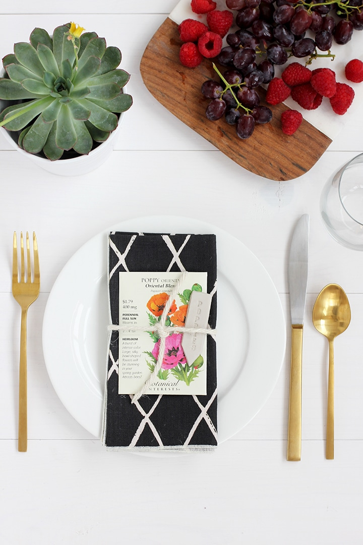 DIY garden marker and spring place setting