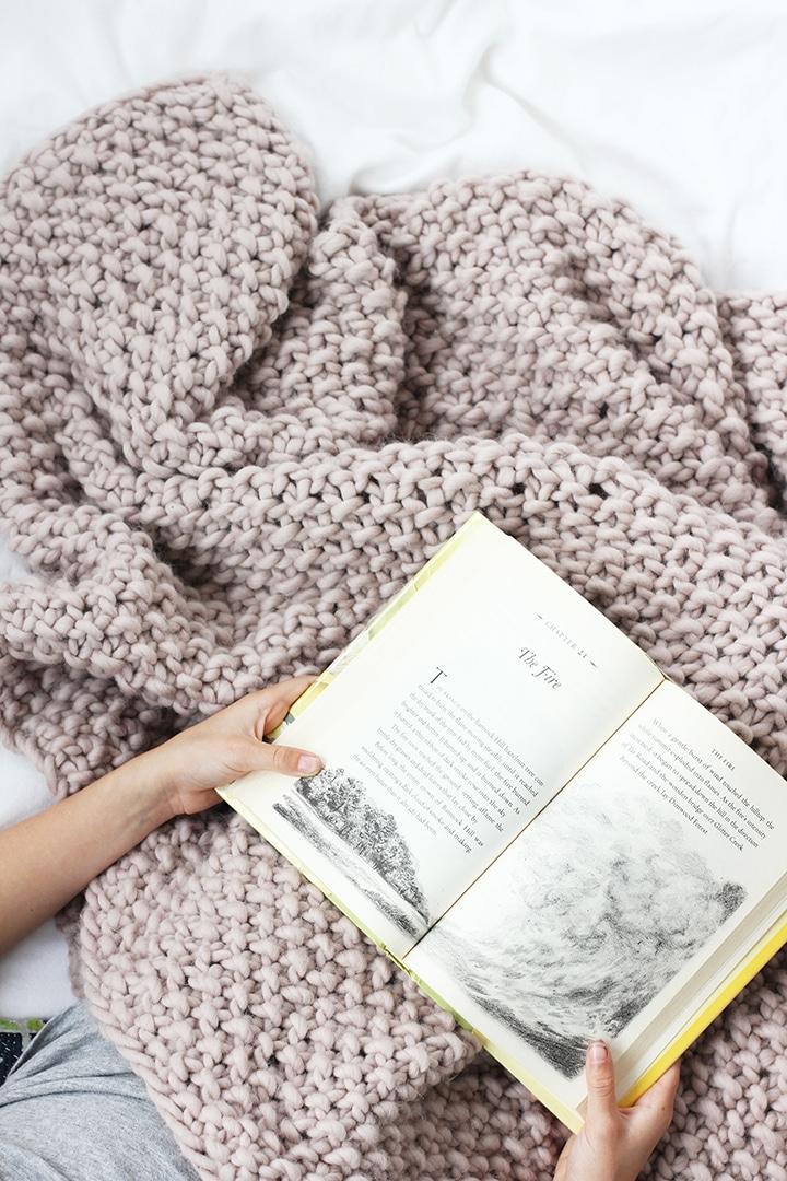 DIY Wool Blanket + We Are Knitters | alice & lois