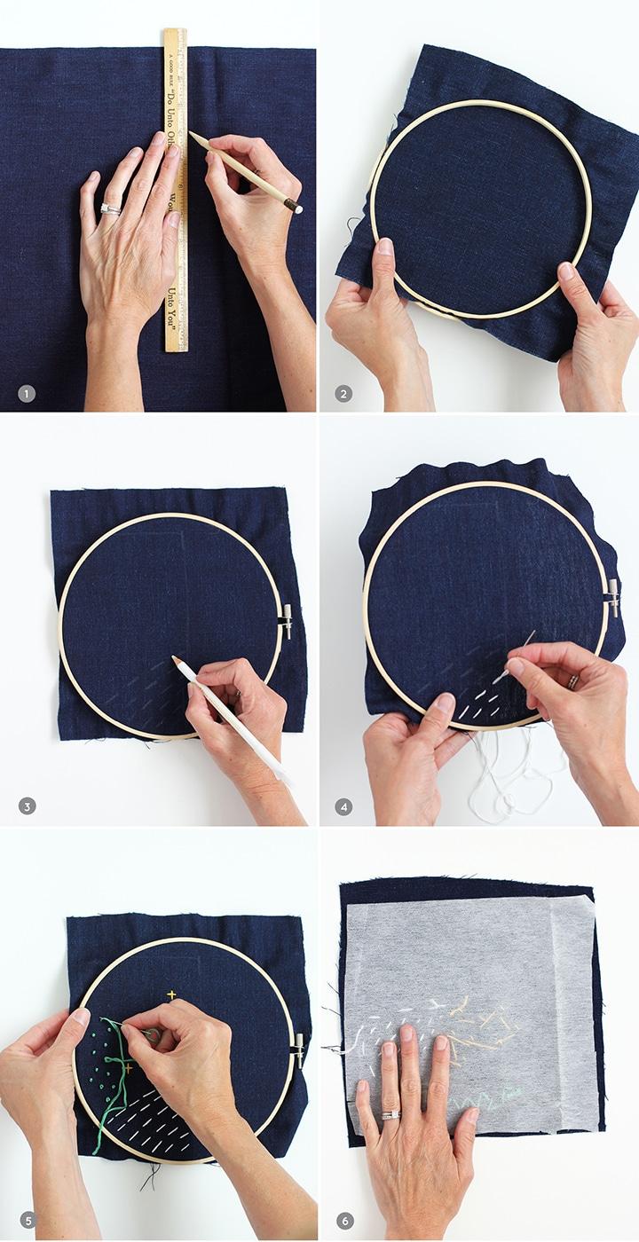 DIY No-Sew Embroidery Sunglasses Case