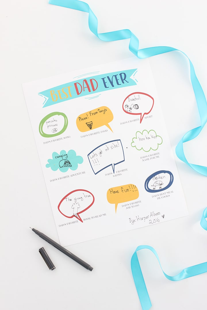 Father's Day Gift Idea and Free Printable