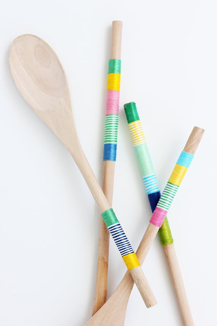 DIY Wrapped Wooden Spoons