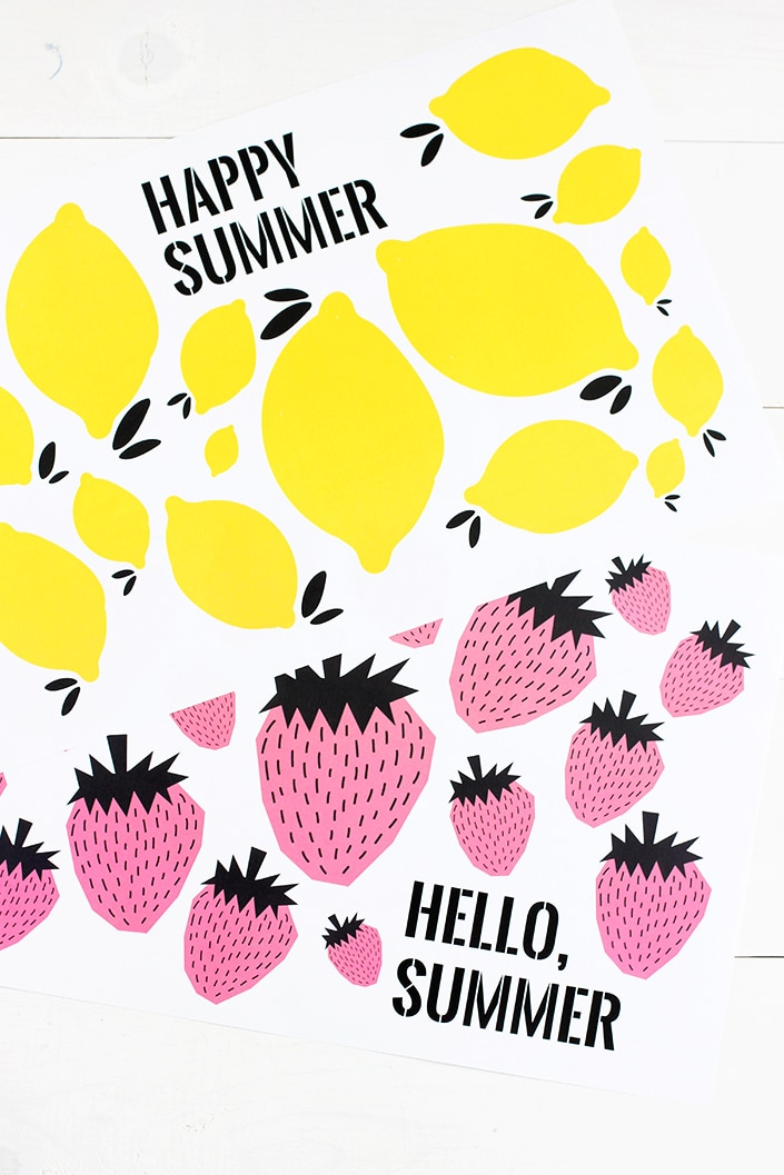 Make snacking and mealtime fun this summer with these cute free printable summer placemats!