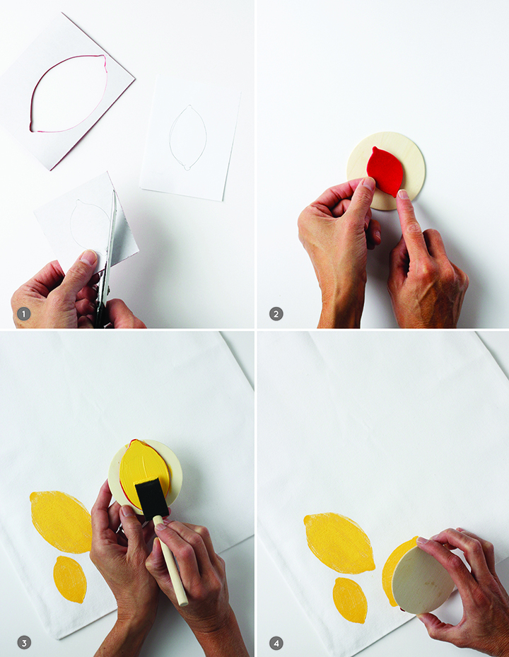 Make this summer tote bag with a DIY lemon stamp!