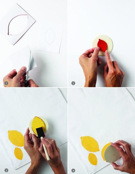 Make this summer tote bag with a DIY lemon stamp!