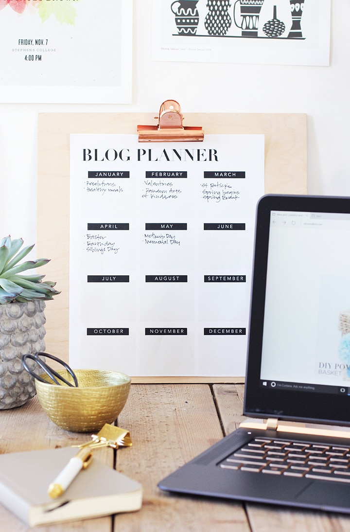 Download and print this Free Printable Blog Planner. It's a fabulous tool to get your editorial calendar filled up!