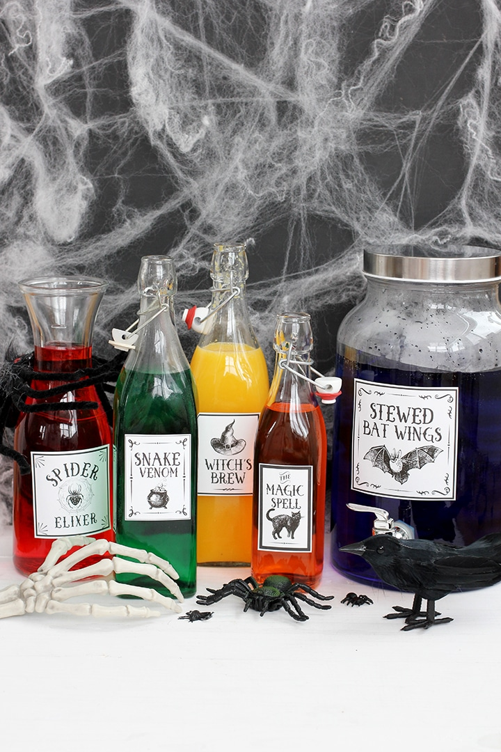 Halloween Potions Labels Free Printable