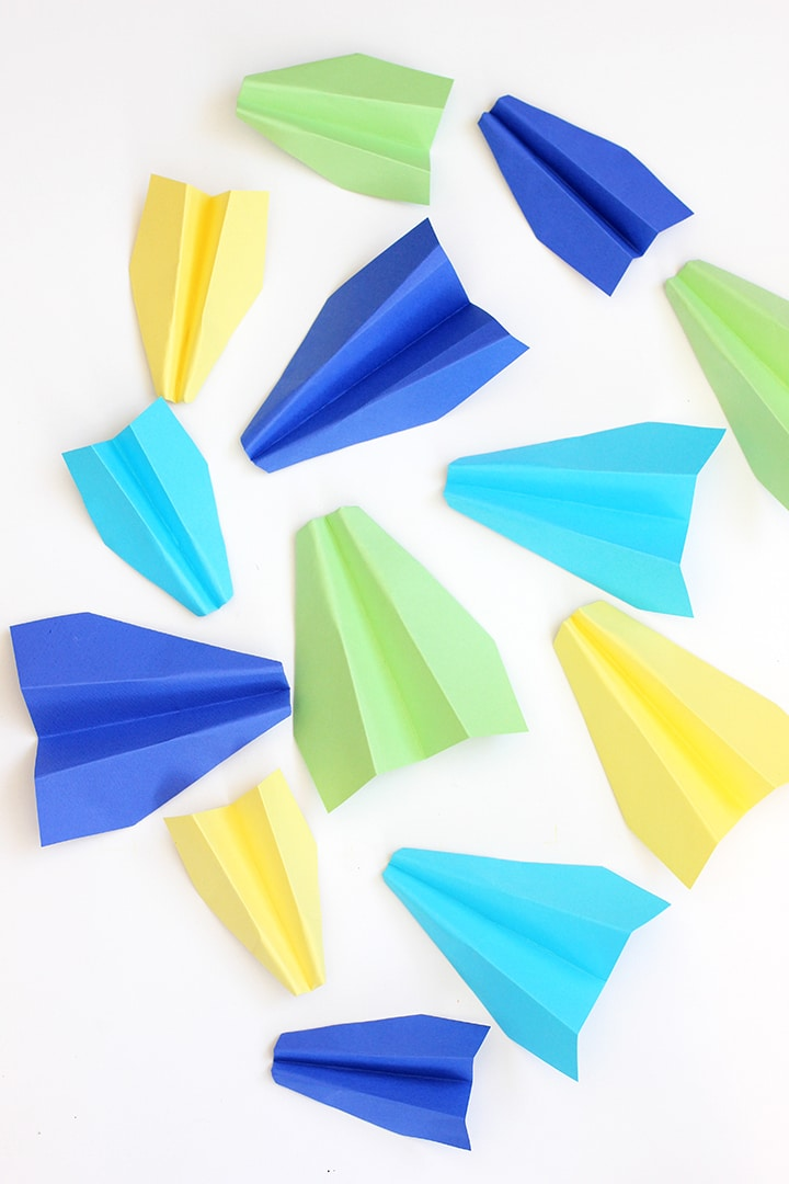 DIY Paper Airplane Kids Room Decor
