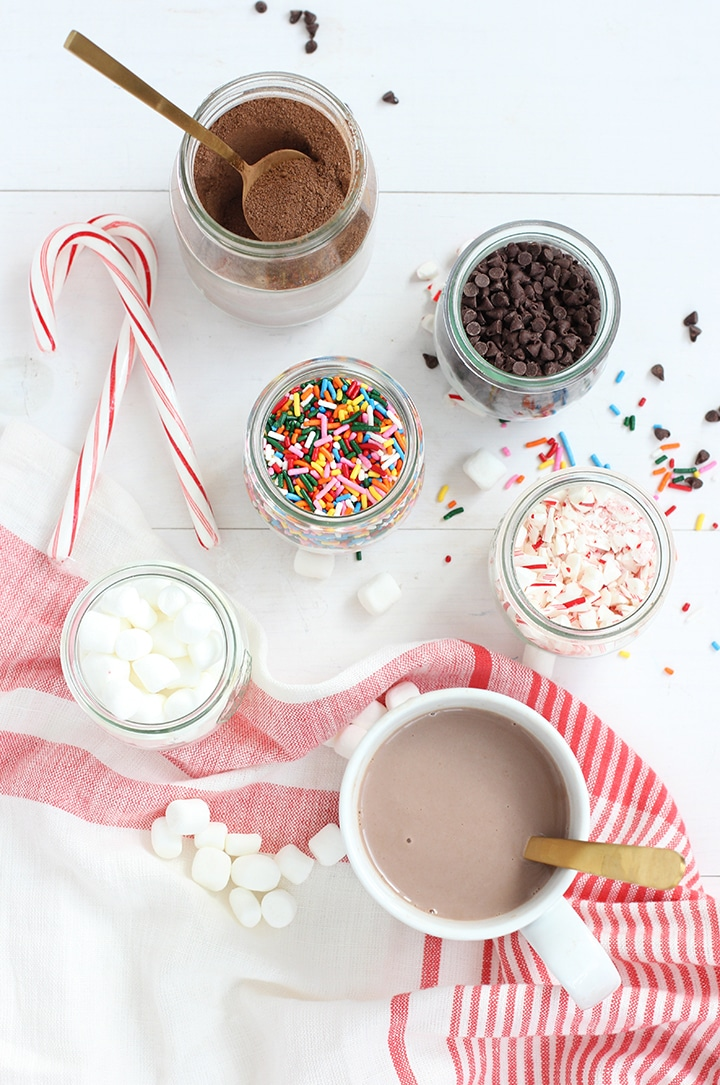 Hot Chocolate Bar and Whipped Cream Snowflakes