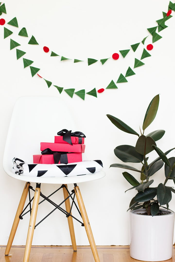 DIY Wool Garland and Modern Graphic Blanket