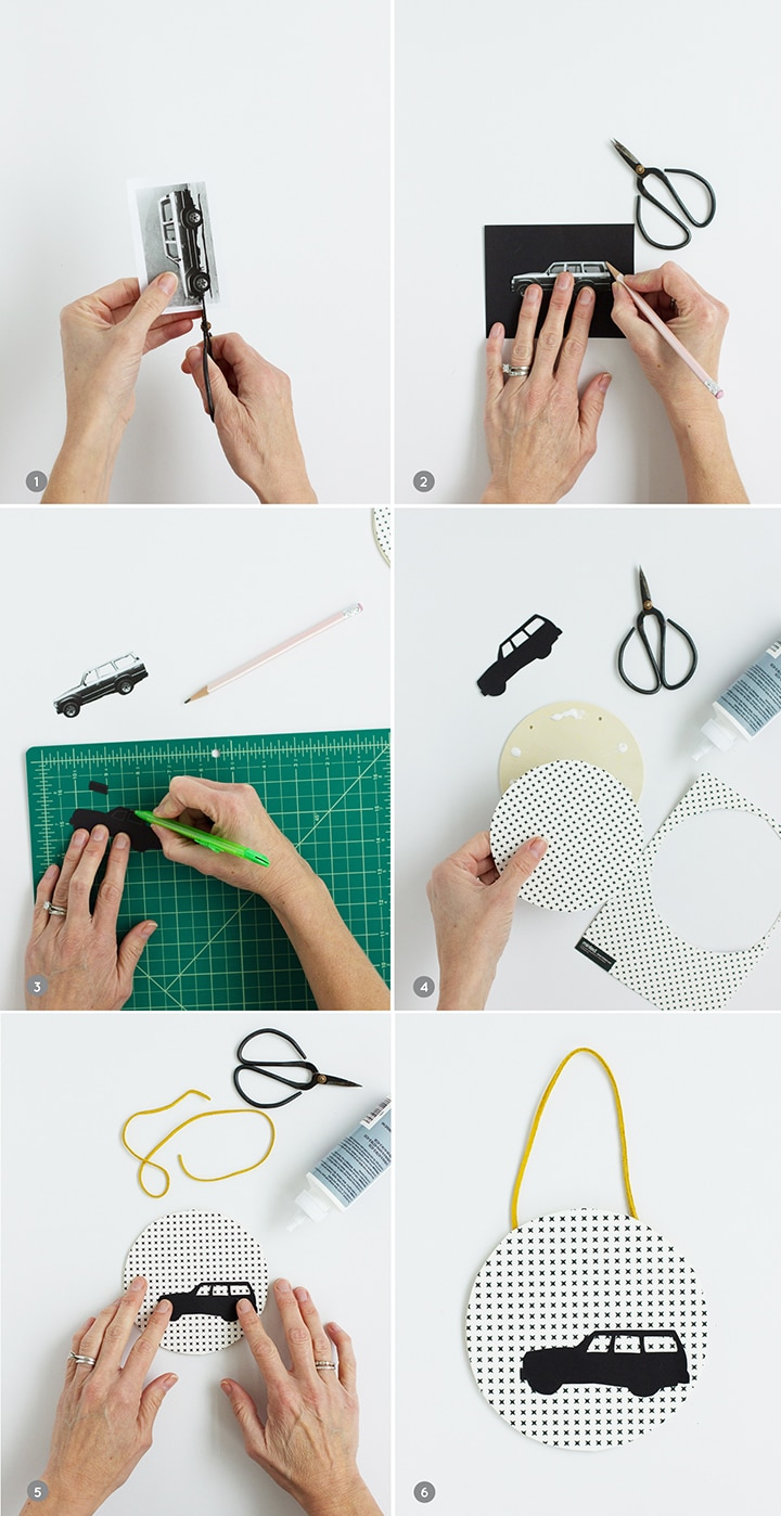 DIY Car Silhouette Ornament