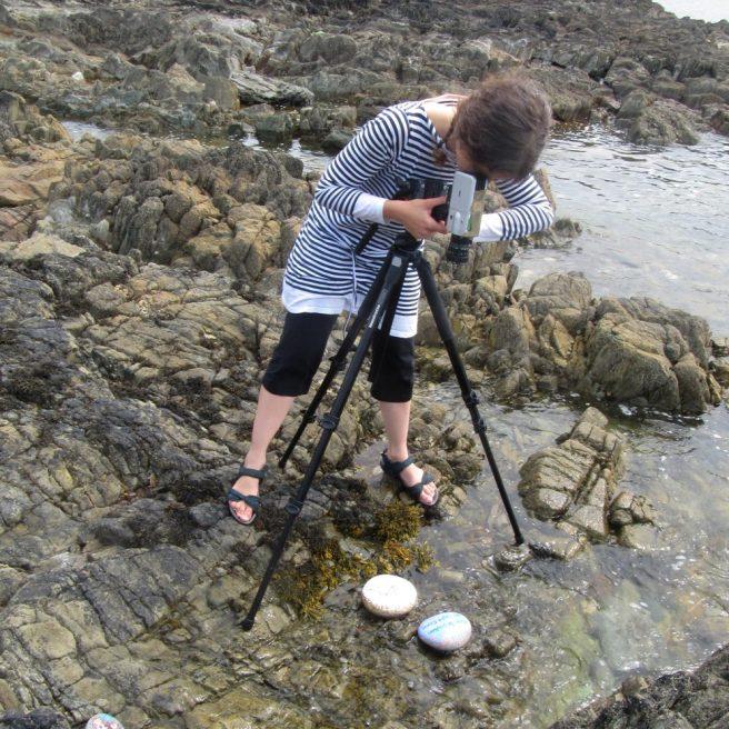 tournage après l'orage, marée montante, Locquémeau.