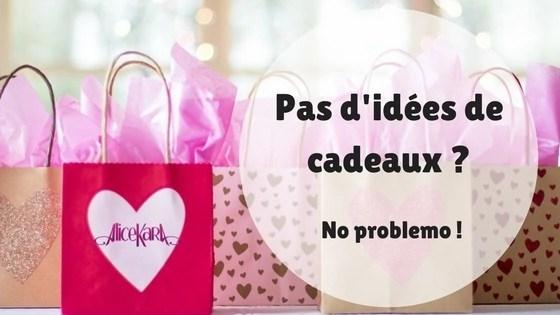 Pas d'idées de cadeaux, no problemo ! paquets de cadeaux roses Alice Kara