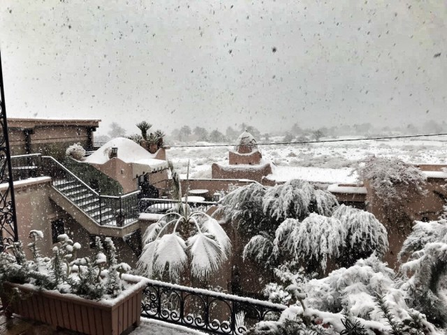 Snow in Morocco