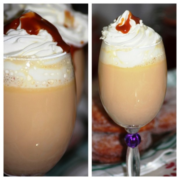 Chocolat chaud au chocolat blanc et caramel (1)