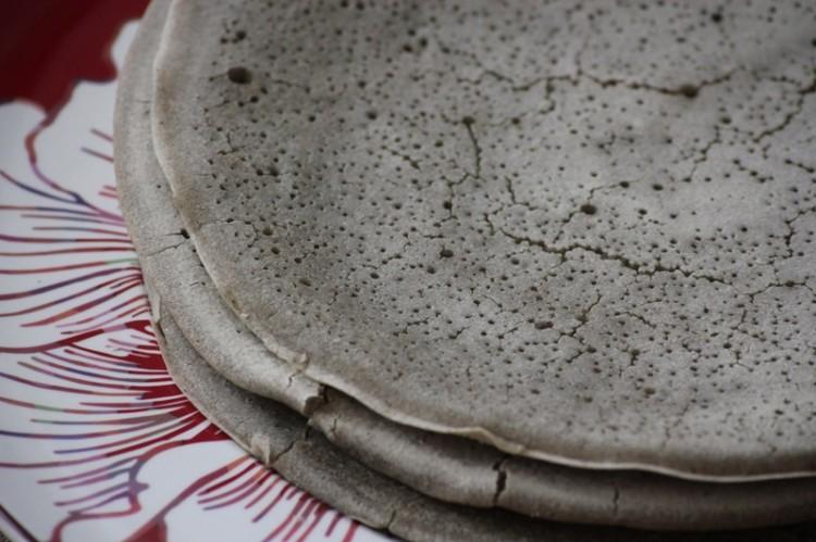 injera (crêpes de mil ethiopien)