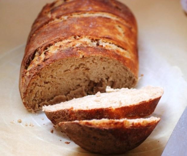 pain levé à la banane