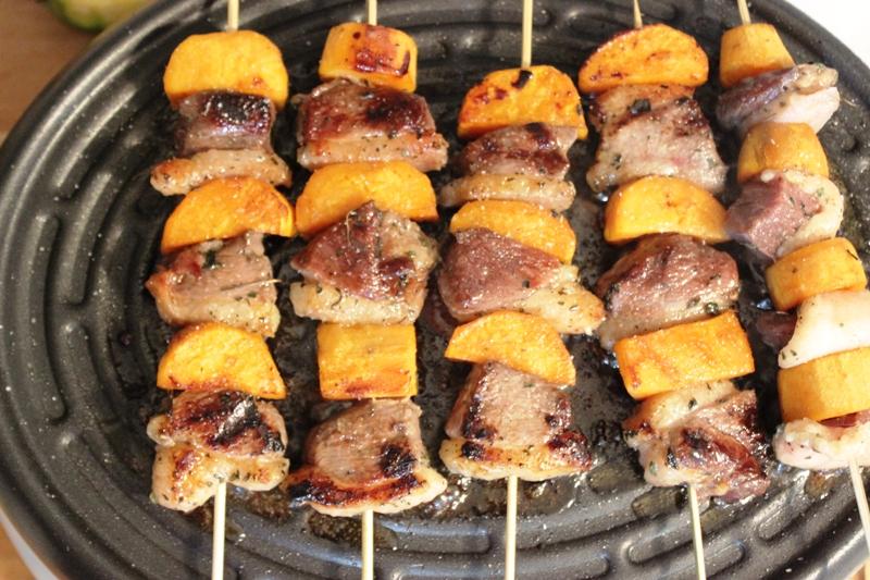 Brochettes de magret de canard au miel poivre de penja et patate douce alice pegie cuisine - Magret de canard grille au four ...